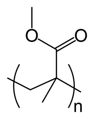 アクリル/メタクリル樹脂(PMMA)の構造式